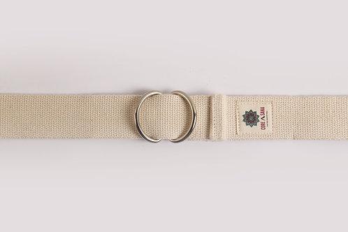 Cotton Yoga Strap buckle- White