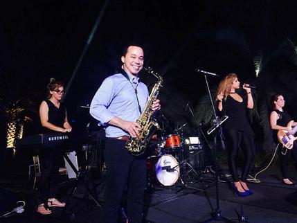 Pulse and Soul live band Oman Rene saxophone