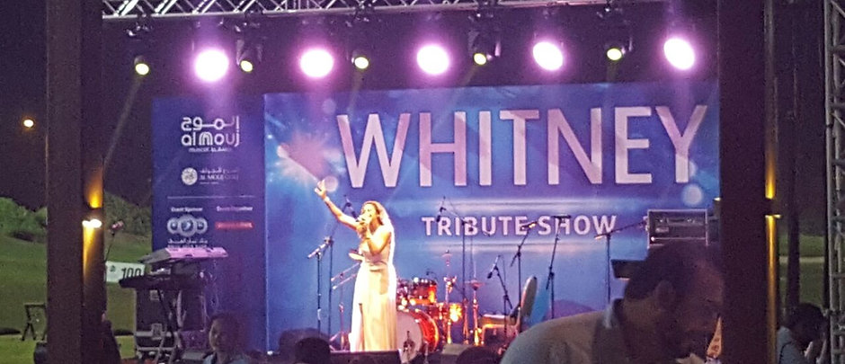 Whitney Houston Tribute 2016 at AL mourj  by Thanae and her band Pulse and Soul, Muscat