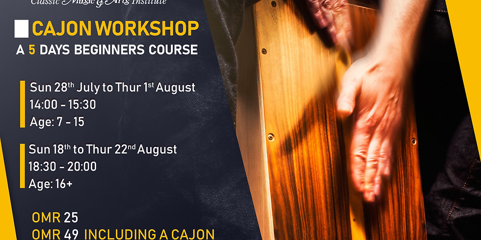 Cajon Workshop 5 Day Summer Course