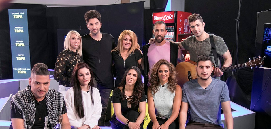 Thanae and her band members after reaching the X Factor Greece Finals