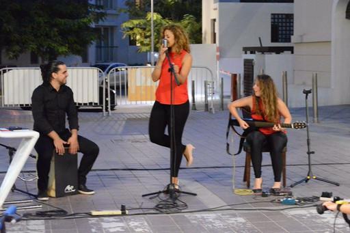 Lead Singer Oman Thanae Live Band Musicians Al Mouj the Walk performance Music