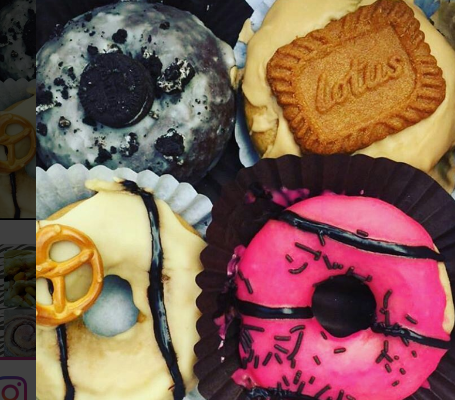 mixed baked doughnuts