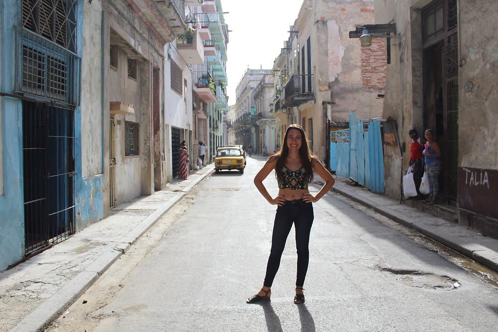 Melissa Mansfield in Havana Vieja, Cuba