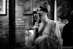 Brooklyn Britches at SIP After Dark *photo by Mélanie Bert *gown by Gibeon Tolbert