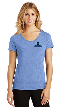 District Made Ladies Perfect Triblend V-Neck Tee