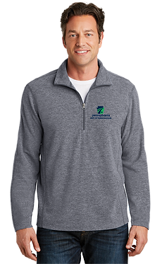 Men's Heather Microfleece 1/2-Zip Pullover