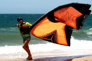 practice kitesurfing