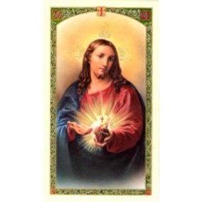 Sacred Heart Of Jesus English Holy Card