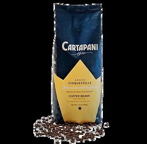 cartapani cinquestelle premium espresso coffee beans medium roast