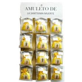 Yellow Holy Death Mojo Amulet