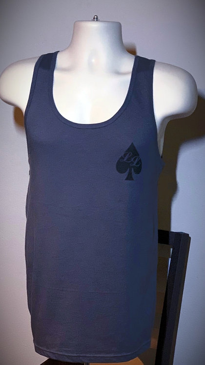 Charcoal w/ black Lucky Lifters Tank Top