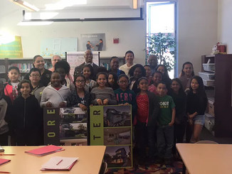 Mentoring the young at Oak Park Elementary school, San Diego Unified Schoold District .