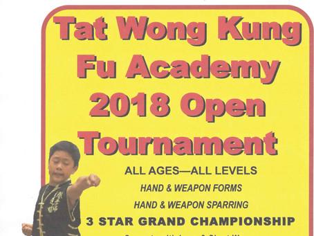 2018 Tat Wong Kung Fu Tournament
