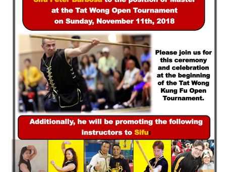 Master/Sifu Promotion Ceremony