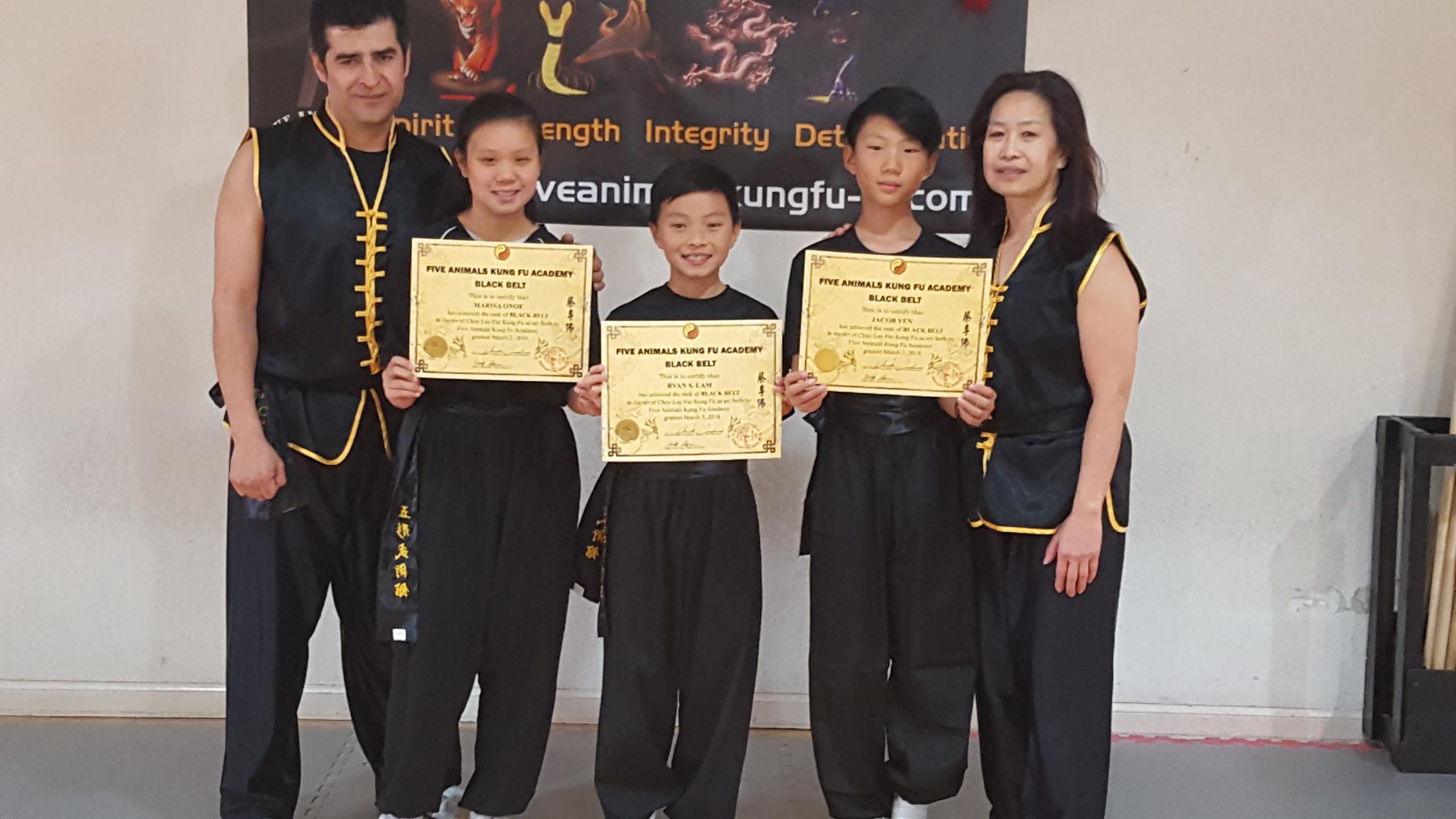 Black Belt Graduates 2018