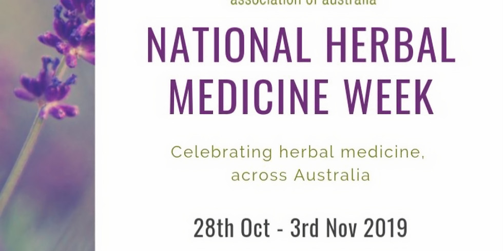 Herbal Medicine Week Clinic Open Day and Herbal Medicine Talk