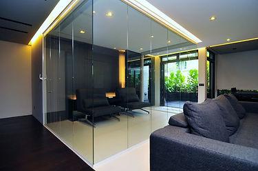 Premier Frameless Folding Doors Interior Separation