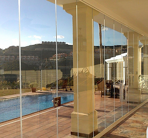 """Frameless Folding Doors"", ""Folding Patio Doors"""