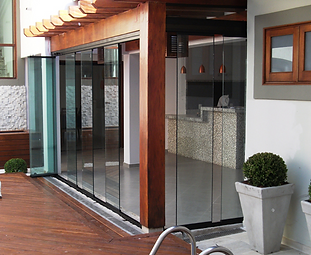 Premier Frameless Folding Doors