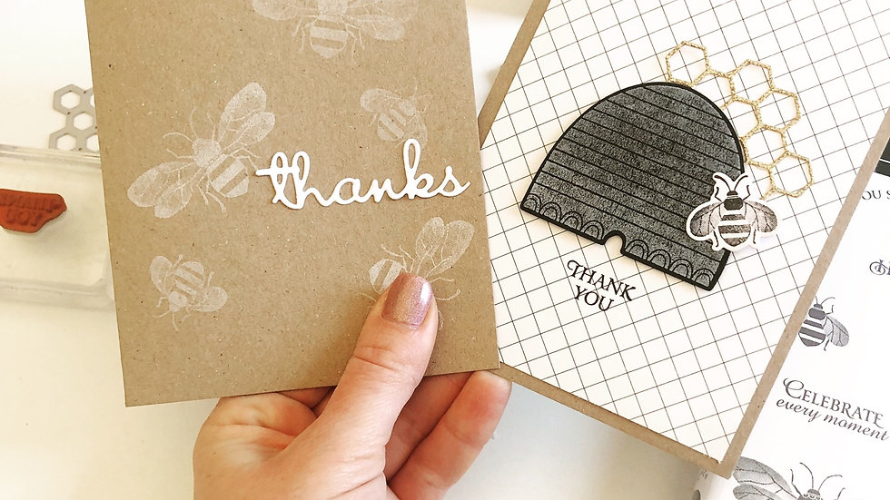 Bee Design Thank you cards (Pack of 10)