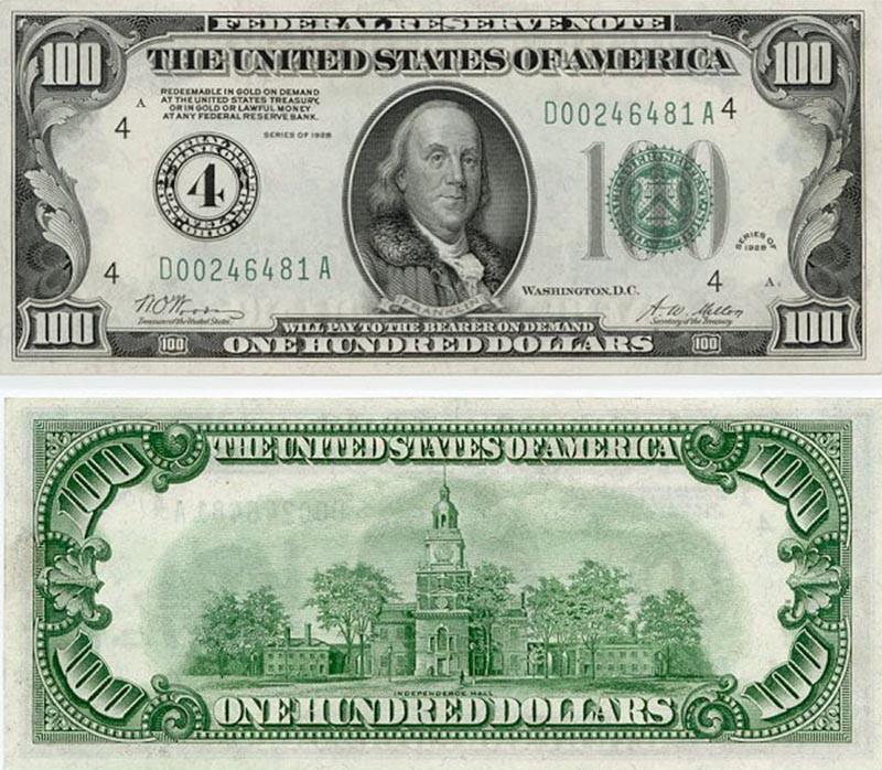 Cédula Antiga de Dólar Carinha Pequena