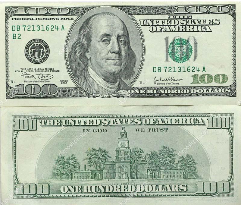 Cédula Antiga de Dólar Carão