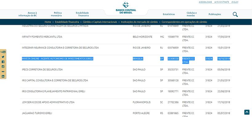 Cadastro Banco Central Invista Câmbio | Cotação Dólar Banco Central do Brasil | Euro e Outra Moedas Estrangeiras | Calculadora