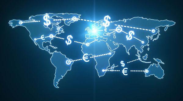 transferencias bancária internacionais de dinheiro, em dólar, euros, dolres canadenses e libras esterlinas
