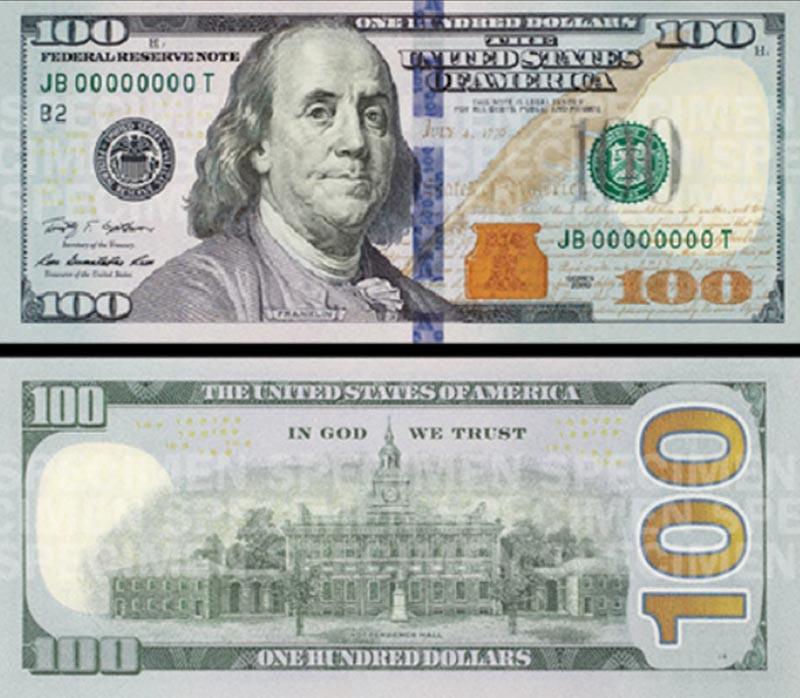Cédula De Dólar Americano Atual