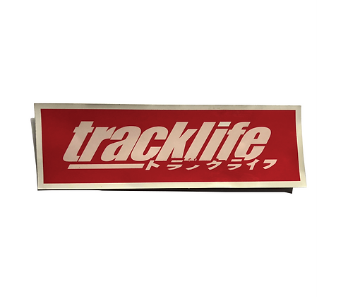 Track Life Katakana Slap Decal