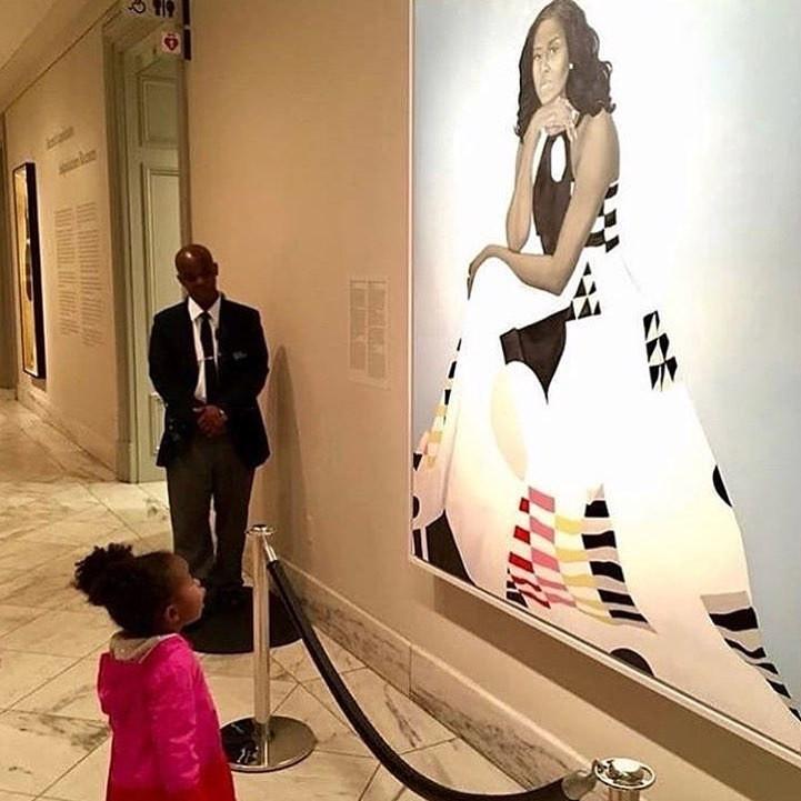 Parker Curry Michelle Obama Portrait