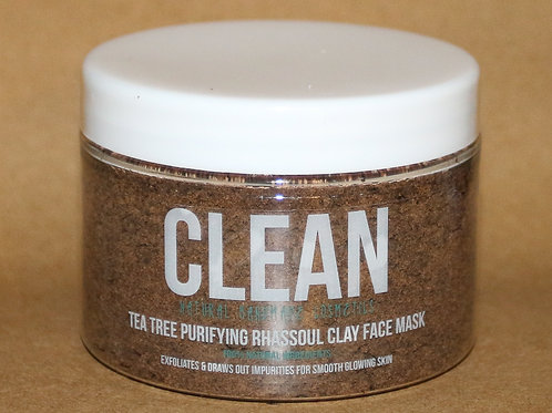 Clean Tea Tree Purifying Rhassoul Clay Face Mask