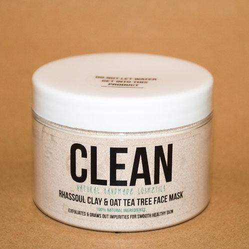 Clean Rhassoul Clay & Oat Tea Tree Face Mask