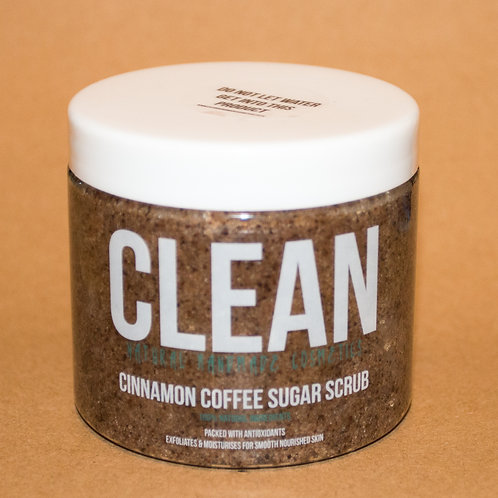 Clean Cinnamon Coffee Sugar Scrub