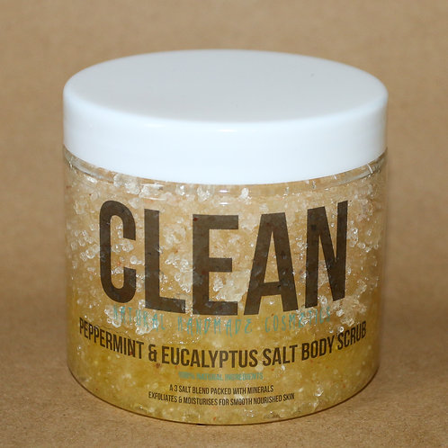 Clean Peppermint & Eucalyptus Salt Scrub