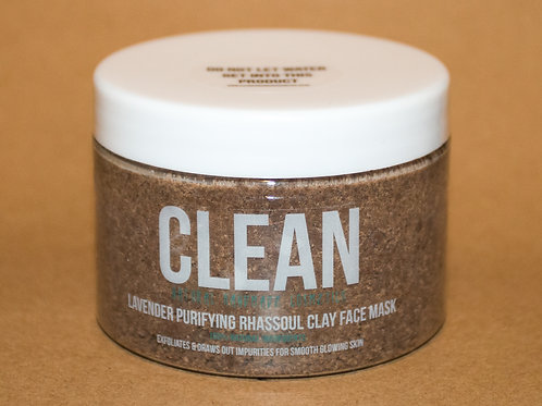 Clean Lavender Purifying Rhassoul Clay Face Mask