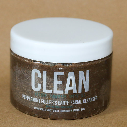 Clean Peppermint Fullers Earth Facial Cleanser