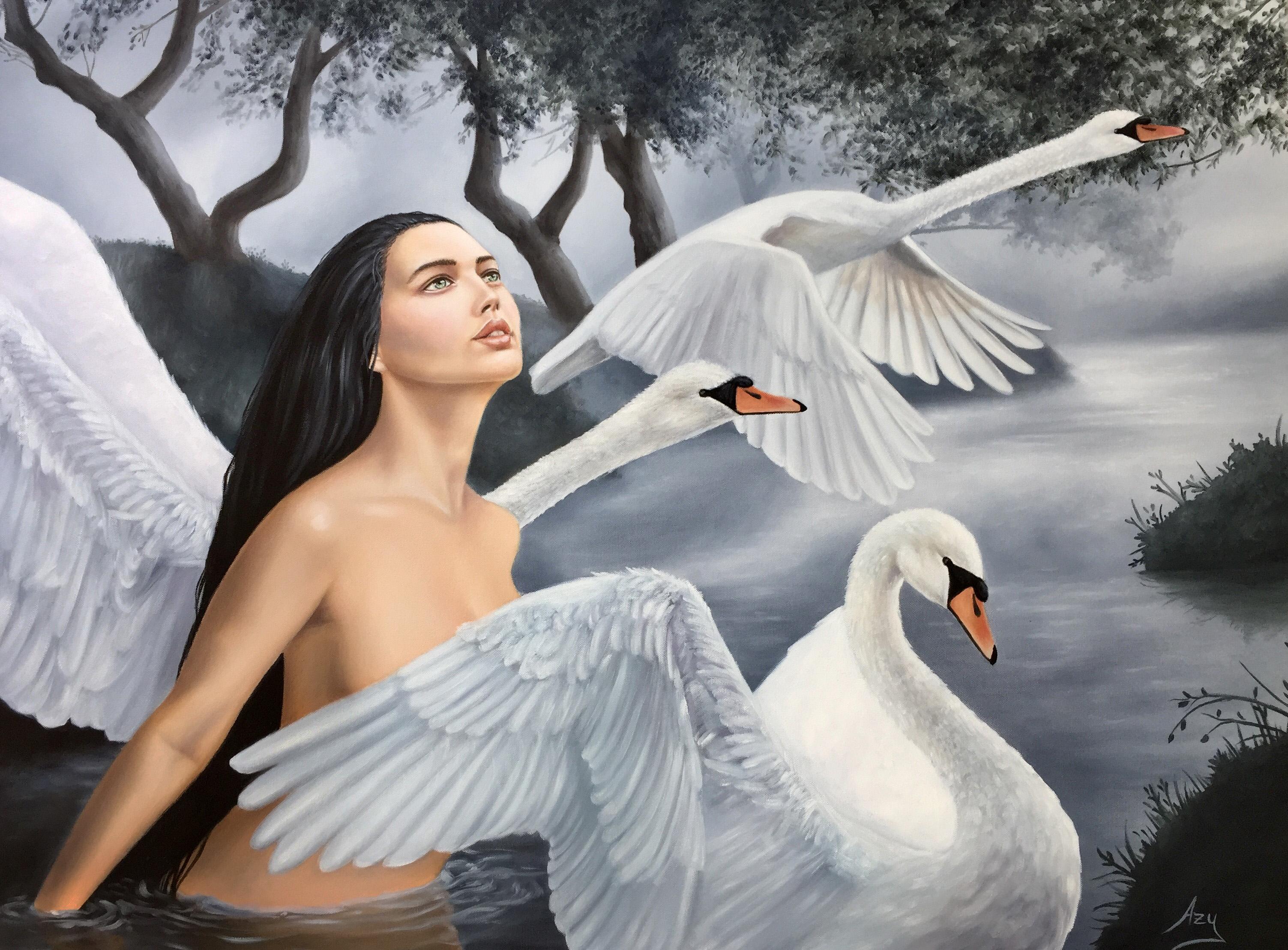"""Swan Lake 30""""x40"""""""