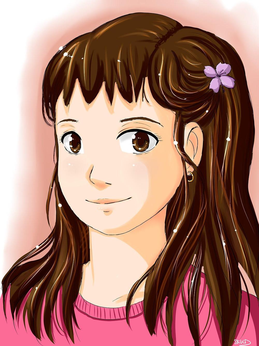 Portrait de petite soeur