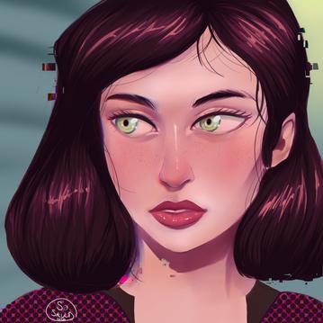 Glitched Portrait
