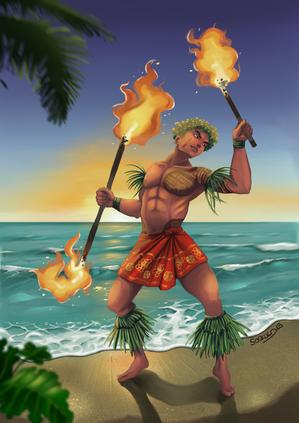 Danseur Hawaïen