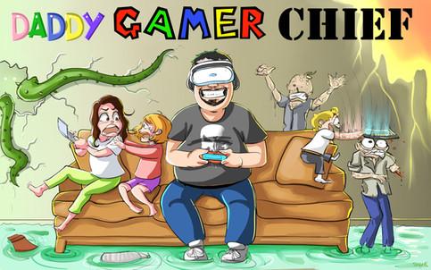 Bannière de blog pour Daddy Gamer Chief