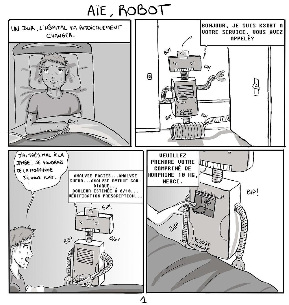 Aïe, robot