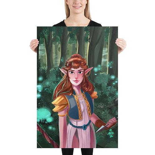 Poster Elfe de la Forêt