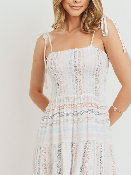 Smock Mini Dress with Tie Straps