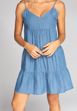 Basic Spaghetti Strap Mini Dress