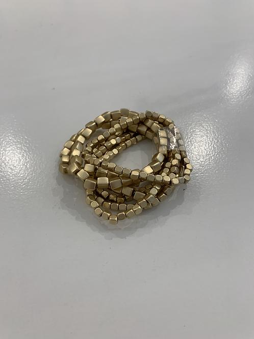 Gold Square Beaded Bracelets