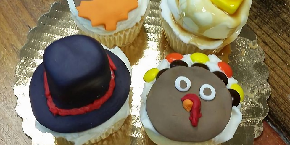Kid's Decorating Class - Thanksgiving cupcakes