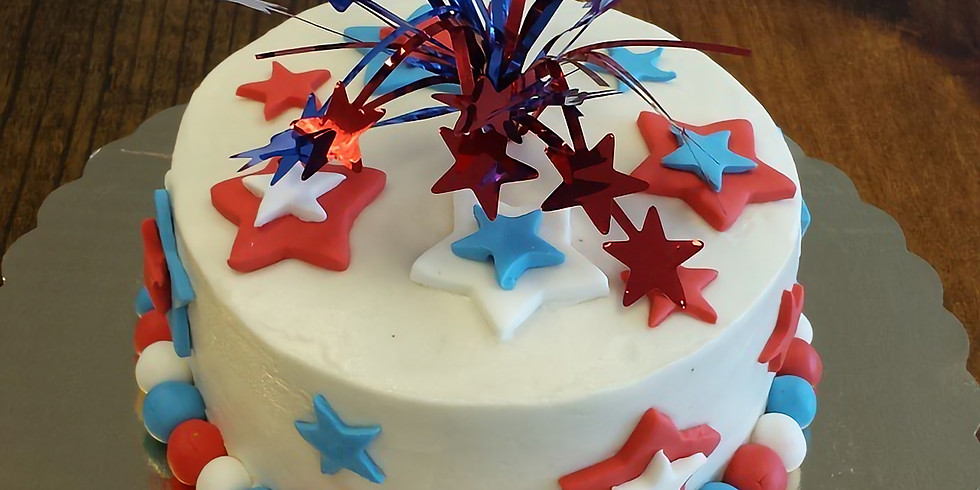 Kid's Decorating Class - 4th of July Cake